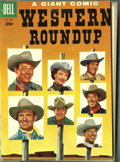 Golden Age (1938-1955):Miscellaneous, Dell Giant Comics Western Roundup #9-12 Bound Volume (Dell, 1955). These are Western Publishing file copies which have been ...