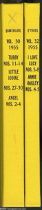 Golden Age (1938-1955):Miscellaneous, Dell Miscellaneous Titles Bound Volumes (Dell, 1955). These are Western Publishing file copies which have been trimmed and b... (2 )