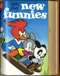 Golden Age (1938-1955):Miscellaneous, Dell Walter Lantz Group Bound Volumes (Dell, 1956-57). These are Western Publishing file copies which have been trimmed and ... (2 )
