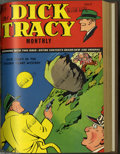 Golden Age (1938-1955):Crime, Dick Tracy Monthly #13-24 Bound Volume (Dell, 1949). These are Western Publishing file copies which have been trimmed and bo...
