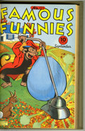 Golden Age (1938-1955):Miscellaneous, Famous Funnies #121-144 Bound Volume Group (Eastern Color, 1944-46) Condition: VG. Two bond volume of the well-known strip r... (2 )