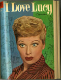 Golden Age (1938-1955):Miscellaneous, Four Color Bound Volume Group (Dell, 1953-54) Condition: Average VG. Two bound volumes filled with issues of Four Color ... (2 )