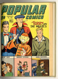 Golden Age (1938-1955):Miscellaneous, Popular Comics #98-100 Bound Volume (Dell, 1944-45). These are Western Publishing file copies which have been trimmed and bo...