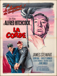 """Rope (MGM, R-1963). French Grande (47"""" X 63"""") Roger Soubie Artwork. Hitchcock"""