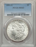 Morgan Dollars: , 1891-S $1 MS63 PCGS. PCGS Population: (3267/2950). NGC Census: (2198/1699). CDN: $120 Whsle. Bid for problem-free NGC/PCGS ...