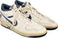 Basketball Collectibles:Others, 1985 Charles Barkley Game Worn & Signed Philadelphia 76ers Rookie Era Sneakers....