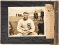"Baseball Collectibles:Photos, Circa 1915 ""Shoeless Joe"" Jackson Original Photograph from HisPersonal Scrapbook, PSA/DNA Type 1.. ..."