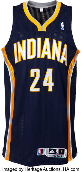 pretty nice 30455 c34eb 2013 Paul George Game Worn Indiana Pacers Jersey - Used 12/7 ...