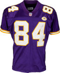 Football Collectibles:Uniforms, 2001 Randy Moss Game Worn & Unwashed Minnesota VikingsJersey--Photo Matched!. ...