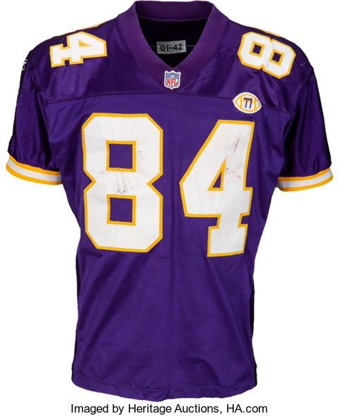 low priced 586fe d3c4a 2001 Randy Moss Game Worn & Unwashed Minnesota Vikings | Lot ...
