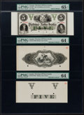 Canadian Currency, NS-23 Canada Province of Nova Scotia 1.6.1861 Proofs.. ... (Total:3 notes)