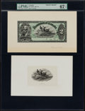 Canadian Currency, DC-14a $2 1897 Proofs and Vignettes.. ... (Total: 5 items)