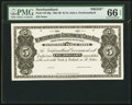 Canadian Currency, St. John's, NF- Newfoundland Government Cash Note $5 ND (1901-09) Ch. # NF-6fp Proof.. ...