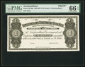 Canadian Currency, St. John's, NF- Newfoundland Government Cash Note $1 ND (1901-09)Ch. # NF-5fp Proof.. ...