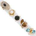 Estate Jewelry:Rings, Diamond, Cultured Pearl, Multi-Stone, Gold Rings. ... (Total: 5Items)