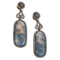 Estate Jewelry:Earrings, Diamond, Sapphire, Gold, Silver Earrings . ...