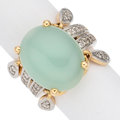Estate Jewelry:Rings, Chalcedony, Diamond, Gold Ring. ...