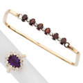 Estate Jewelry:Lots, Diamond, Amethyst, Garnet, Gold Jewelry . ... (Total: 2 Items)