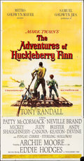 "Movie Posters:Adventure, The Adventures of Huckleberry Finn & Other Lot (MGM, 1960). Folded, Very Fine-. Three Sheets (2) (40.5"" X 78.5"" & 41"" X 79"")... (Total: 2 Items)"