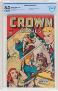 Golden Age (1938-1955):Miscellaneous, Crown Comics #4 (Golfing, 1945) CBCS VF 8.0 Off-white to white pages....