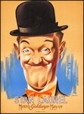 "Movie Posters:Comedy, Stan Laurel (MGM, 1938). French Affiche (22.25"" X 30.25"") BernariArtwork. Comedy.. ..."