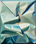 Paintings, Yrjö Edelmann (1941-2016). Untitled (Blue Wrapping), 1998. Oil on canvas. 31-1/2 x 25-1/2 inches (80.0 x 64.8 cm). Signe...