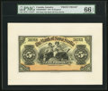 Canadian Currency, Kingston, Jamaica- Bank of Nova Scotia £5 Jan. 2, 1920 Ch. # 550-38-02-08FP Face Proof.. ...