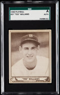 Baseball Cards:Singles (1940-1949), 1940 Play Ball Ted Williams #27 SGC Authentic. ...