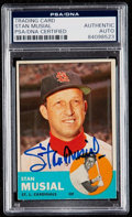 Autographs:Sports Cards, Signed 1963 Topps Stan Musial #250 PSA/DNA Authentic. . ...