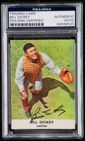 Autographs:Sports Cards, Signed 1961 Golden Press Bill Dickey #27 PSA/DNA Authentic. . ...
