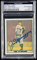 """Autographs:Sports Cards, Signed Reprint - """"1941 Play Ball"""" Joe DiMaggio PSA/DNA Authentic. ...."""