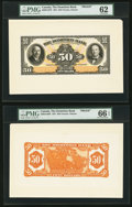 Canadian Currency, Toronto, ON- Dominion Bank $50 1.2.1931 Ch. #220-24-12FP &#220-24-12BP Front and Back Proofs.. ... (Total: 2 notes...