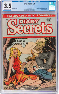 Diary Secrets #16 (St. John, 1953) CGC VG- 3.5 Off-white to white pages