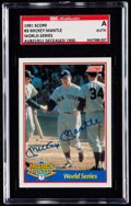 Baseball Cards:Singles (1970-Now), 1991 Score Mickey Mantle Autograph Card #3 SGC Authentic - Serial #'d 1088/2500...