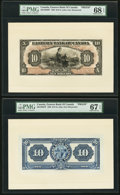 Canadian Currency, Saint John, NB- Eastern Bank of Canada $10 15.5.1929 Ch. #225-10-04FP and #225-10-04BP Front and Back Proofs with Vignette.... (Total: 3 notes)