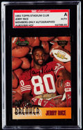 Football Cards:Singles (1970-Now), 1993 Stadium Club Members Only Jerry Rice Autograph SGC Authentic. ...