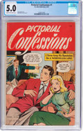 Golden Age (1938-1955):Romance, Pictorial Confessions #1 (St. John, 1949) CGC VG/FN 5.0 Cream tooff-white pages....