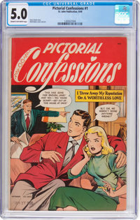 Pictorial Confessions #1 (St. John, 1949) CGC VG/FN 5.0 Cream to off-white pages