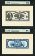 Canadian Currency, St. John's, NF- Government of Newfoundland $1 1920 Ch. # NF-12FP/BPFace and Back Proofs; Die Proof of Caribou Head V...