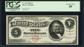 Large Size:Silver Certificates, Fr. 260 $5 1886 Silver Certificate PCGS Extremely Fine 40.. ...