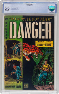 Danger #5 (Comic Media, 1953) CBCS FN- 5.5 Off-white pages