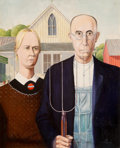 Other, Jim Beaman (American, 20th Century). Playboy Gallery, American Gothic, January 1964. Oil on Masonite. 23.5 x 19.25 in.. ...