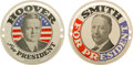Political:3D & Other Display (pre-1896), Herbert Hoover and Al Smith: Pair of Portrait License PlateAttachments.... (Total: 2 Items)