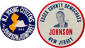 Political:Pinback Buttons (1896-present), Lyndon B. Johnson: New Jersey Buttons.... (Total: 2 Items)