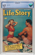 Golden Age (1938-1955):Romance, Life Story #11 (Fawcett Publications, 1950) CBCS FN+ 6.5 Off-whiteto white pages....