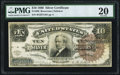 Large Size:Silver Certificates, Fr. 296 $10 1886 Silver Certificate PMG Very Fine 20.. ...