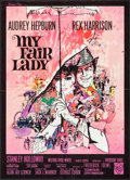 "Movie Posters:Musical, My Fair Lady (Warner Brothers, 1964). Folded, Very Fine. French Moyenne (22"" X 30.5"") Bob Peak Artwork. Musical.. ..."