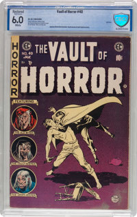 Vault of Horror #40 (EC, 1954) CBCS Restored FN 6.0 (SA) White pages