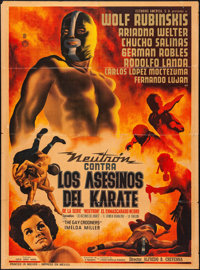 "Neutron Battles Karate Assassins (Estudios America, 1965). Mexican One Sheet (27.25"" X 37.25""). Action"