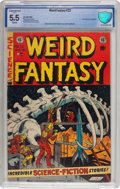 Golden Age (1938-1955):Science Fiction, Weird Fantasy #22 (EC, 1953) CBCS Conserved FN- 5.5 White pages....